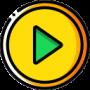 icon video yellow